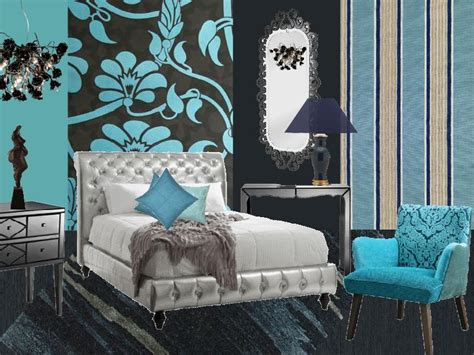 teal black and white bedroom black white and teal bedroom ideas