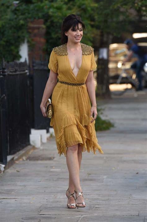 Dress Disy lowe in yellow dress 16 gotceleb