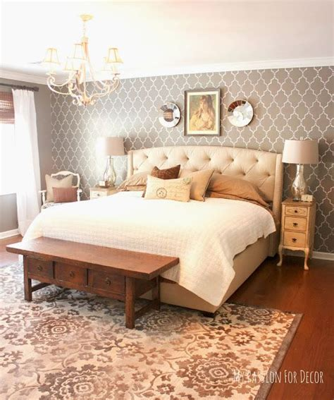 bedroom stencils master bedroom makeover using a neutral palette love the