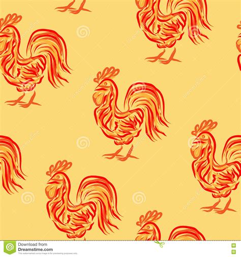 new year animals vector rooster pattern stock vector image 77725857