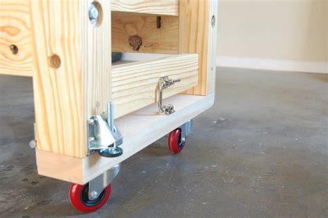 work bench on wheels mobile torsion box workbench by ron stewart