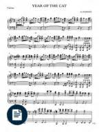piano tutorial year of the cat sheet music piano score al stewart year of the cat