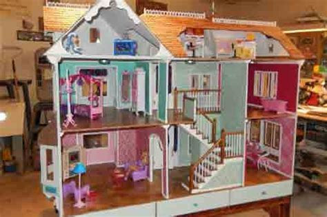 free barbie doll house plans doll house plans doll house plans for american girl or 18 inch dolls 4 room not