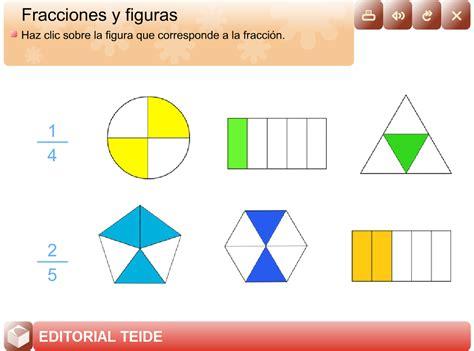 Figuras Geometricas Fracciones | la mina 4 186 de primaria fracciones y figuras