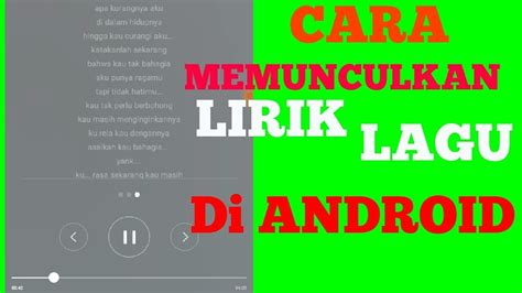 cara membuat video animasi lagu cara membuat lirik mp3 di android youtube