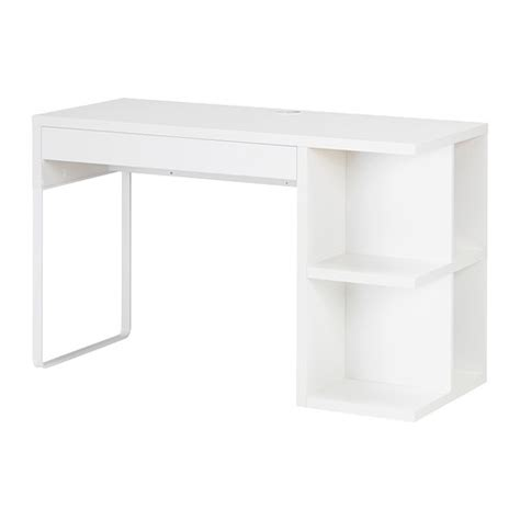 micke desk with integrated storage white ikea