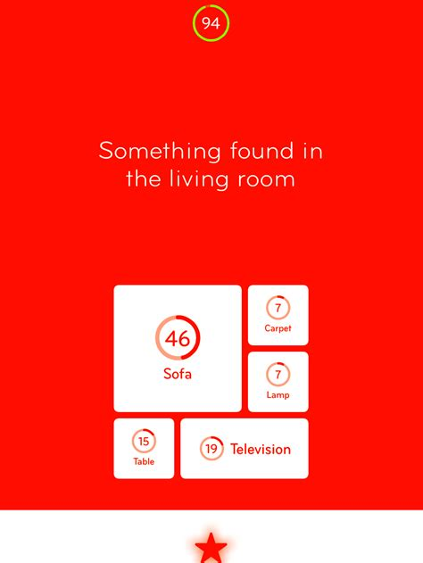 the room found 94 level 34 something found in the living room answer 94