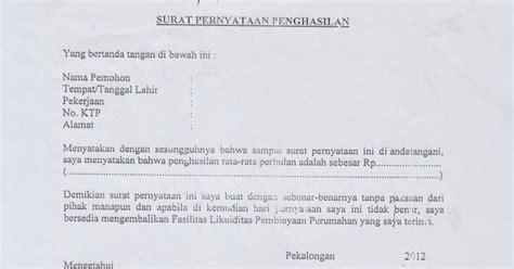 umroni contoh surat pernyataan