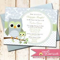 owl theme baby shower invitation choose colors for boy or gender neutral printable diy