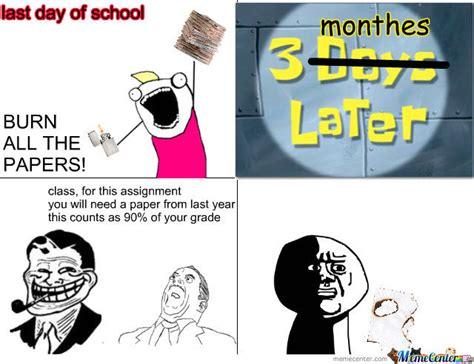 School Work Memes - burn your school work by missjojo meme center