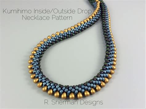 kumihimo bead patterns pdf pattern kumihimo inside outside drop necklace from