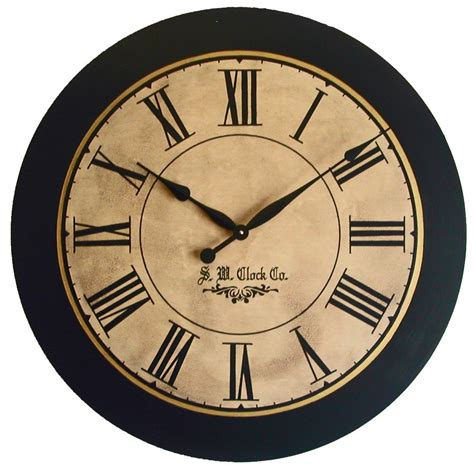 large wall clocks large wall clock 30 inch lexington antique style by klocktime