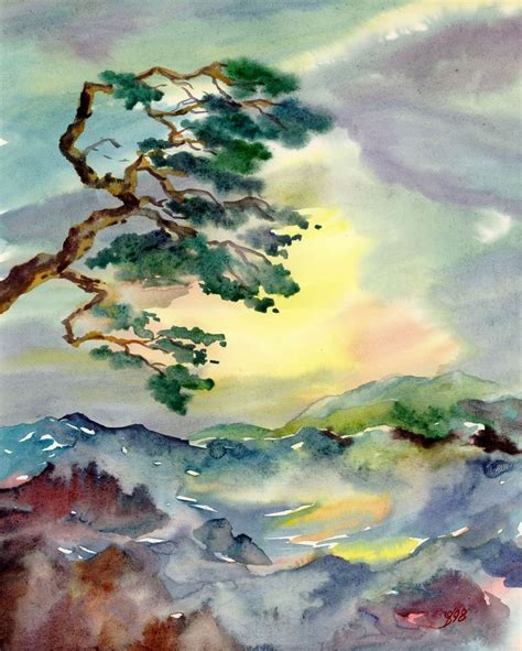 187 japanese pine watercolors 171 painting watercolors