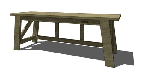 diy large desk free diy furniture plans to build a pottery barn inspired