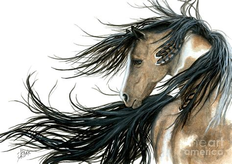 majestic horse series 89 painting by amylyn bihrle