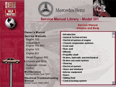 manual repair autos 1992 mercedes benz w201 engine control mercedes w201 owners manual