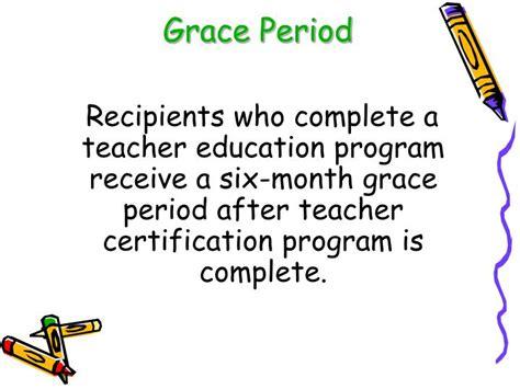 design application grace period ppt conversion loan programs kheaa teacher scholarship