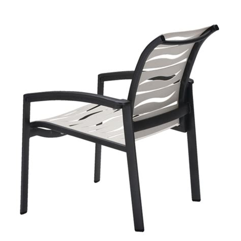 vinyl dining chairs with arms pool furniture supply tropitone elance ez span vinyl