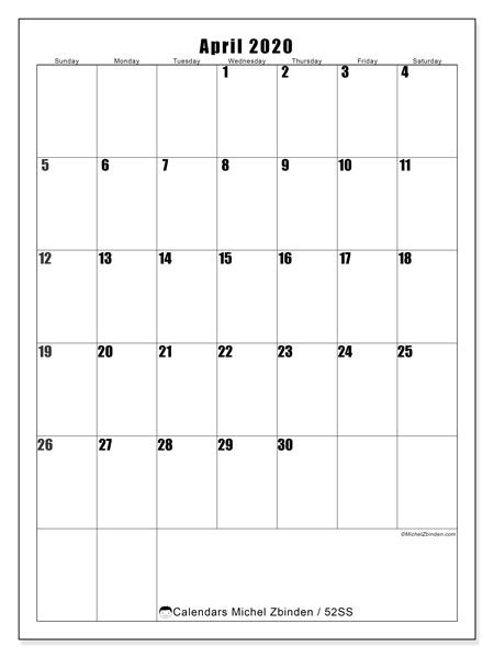 april  calendars ss michel zbinden en