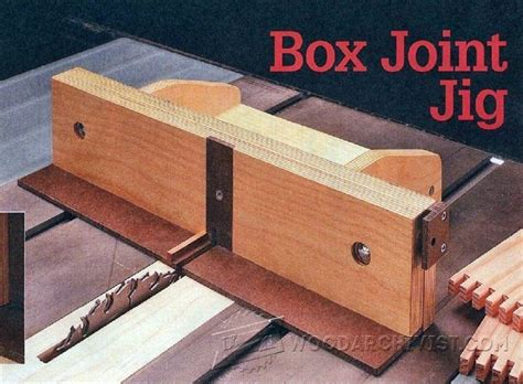 woodworking box joint box joint jig plans joinery tips jigs and techniques