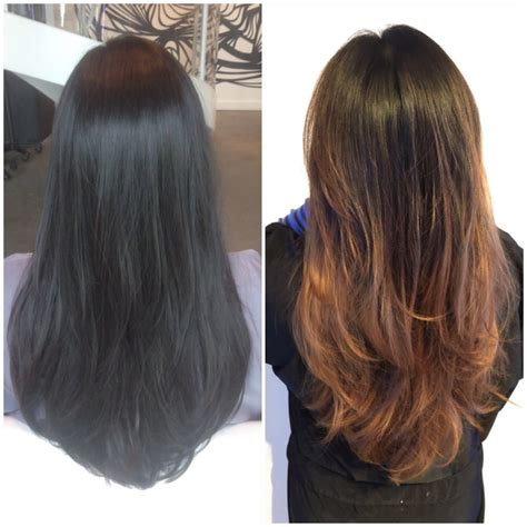 before and after cut and balayage ombre color yelp of hair