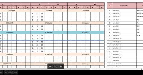 format jam di excel aplikasi jadwal pelajaran anti bentrok format excel