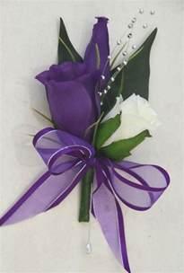 purple corsage silk wedding flower bridal groom white purple lisianthus corsage pin ebay