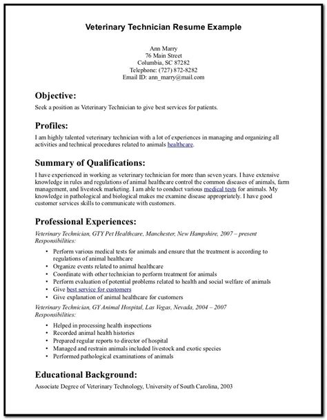Resume Cover Letter For Assistant by Sle Cover Letter For Resume Veterinary Assistant