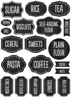 Sticker Dapur Stiker Dapur Kitchen Sheet 45cmx5m Silver Mozaic free printable pantry labels imprim 237 veis gratuitos