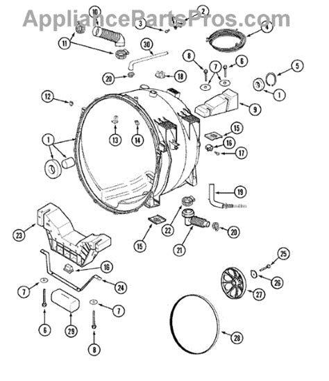 maytag front load washer parts diagram parts for maytag mah4000aww outer tub parts