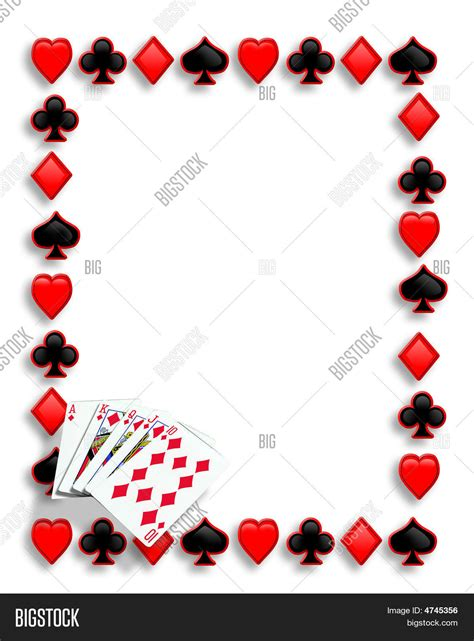 Borders Gift Card - playing cards border poker royal image photo bigstock