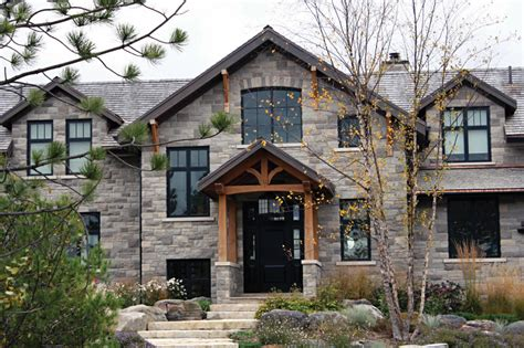 exterior house designs with stone natural stone dominated materials exterior decoration of natural house design ideas