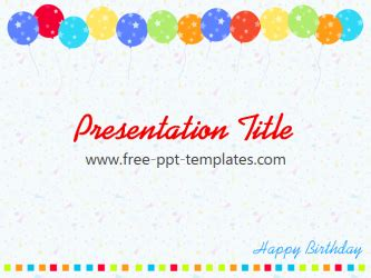 birthday powerpoint template birthday ppt template free powerpoint templates