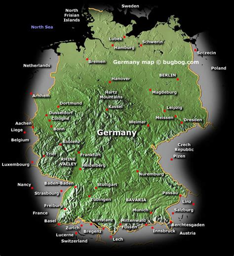 germany satellite map germany map and germany satellite image