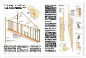 How To Build Gambrel Roof framing gable ends fine homebuilding