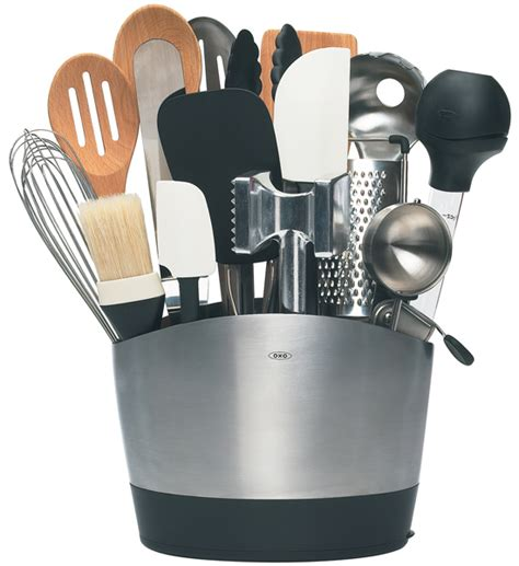 Kitchen Utensil Holder | oxo stainless steel utensil holder in kitchen utensil holders