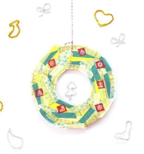 washi tape christmas craft crafts washi wreath modes