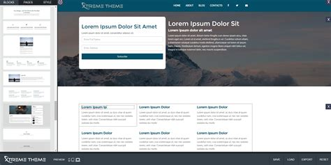 bootstrap themes builder xtreme theme site builder for bootstrap templates by
