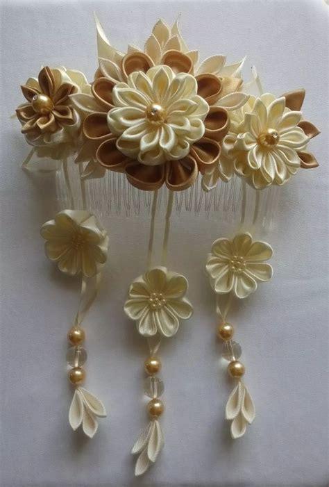 imagenes flores kanzashi mejores 406 im 225 genes de flores kanzashi en pinterest