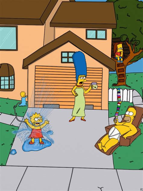 The Simpsons Contest by Closed Summer With The Simpsons On Homerandmargesimpson