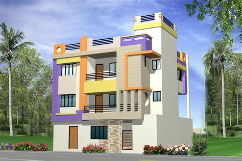 Front Elevations Of Indian Economy Houses | front elevations of indian economy houses front elevation
