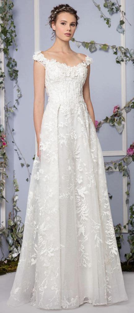 hochzeitskleid off shoulder floral applique off the shoulder embroidered tulle wedding