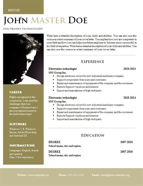 creative resume template word doc creative design resume doc format 820 825 free cv template dot org