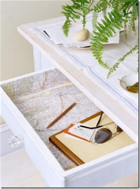 Martha Stewart Shelf Liner decorating ideas using maps simplified bee