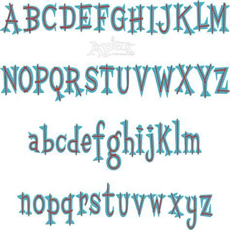 design lines font center line embroidery font