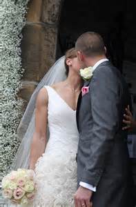 You may now kiss the bride the happy couple gave each other a quick
