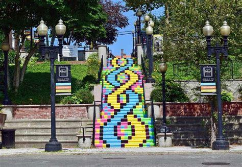 Step Detox Bridgeport Connecticut by Bridgeport Artist Volunteers Convert Staircase Into Mural