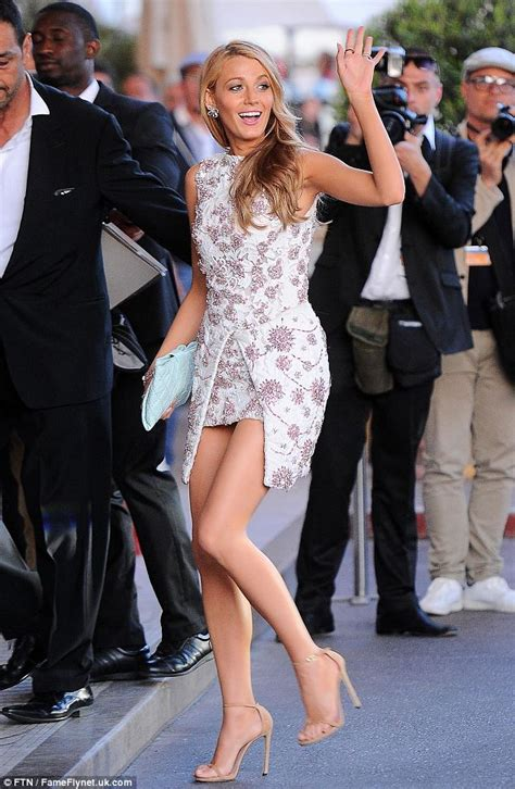 Blake Lively Wows In Sequined Waist Cincher Dress At The