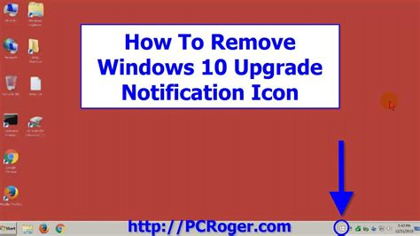 the windows 10 upgrade notification how to remove windows 10 upgrade notification icon youtube