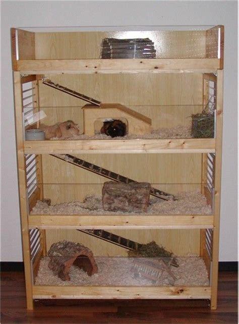 frettchen stall selber bauen fertiger meerschweinchen eigenbau aus einem holzregal